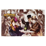 Cheers Old Fashioned Beach Towel White 36X58