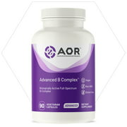 AOR, Advanced B Complex, Multivitamin Support for Energy, Stress and Metabolism, Dietary Supplement, 30 Servings (90 Capsules)