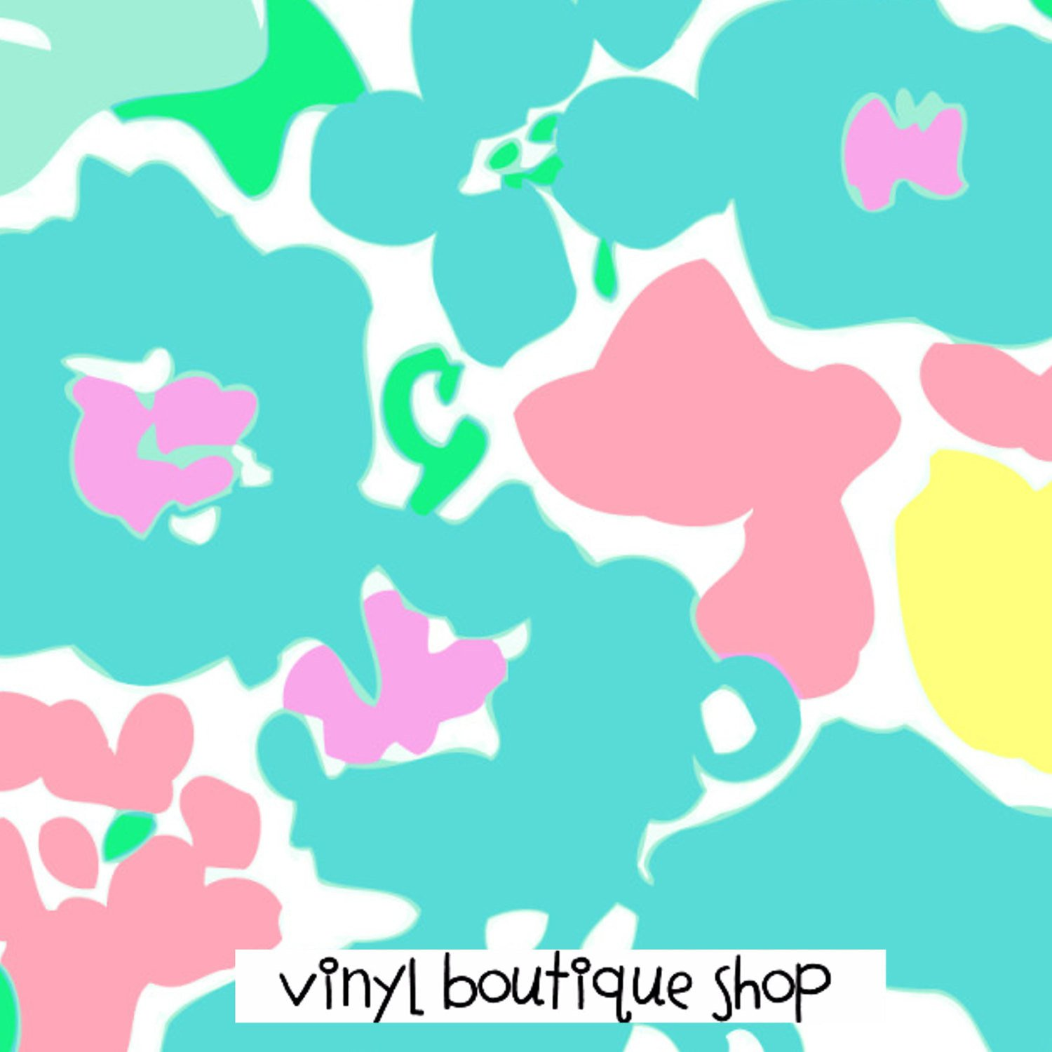Resort White Spring Fling Lilly Inspired Printed Patterned Craft Vinyl