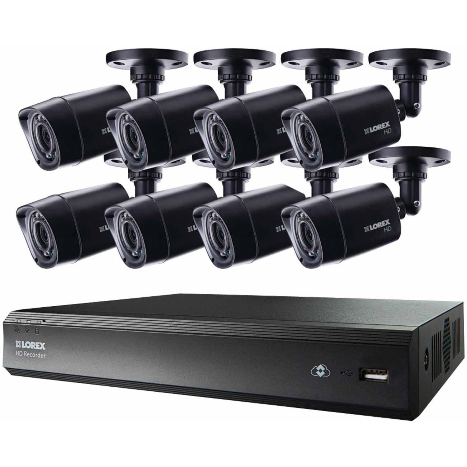 Lorex Lhv00161tc8 16-Channel MPX HD-DVR with 1TB and Eight 720p Security Cameras