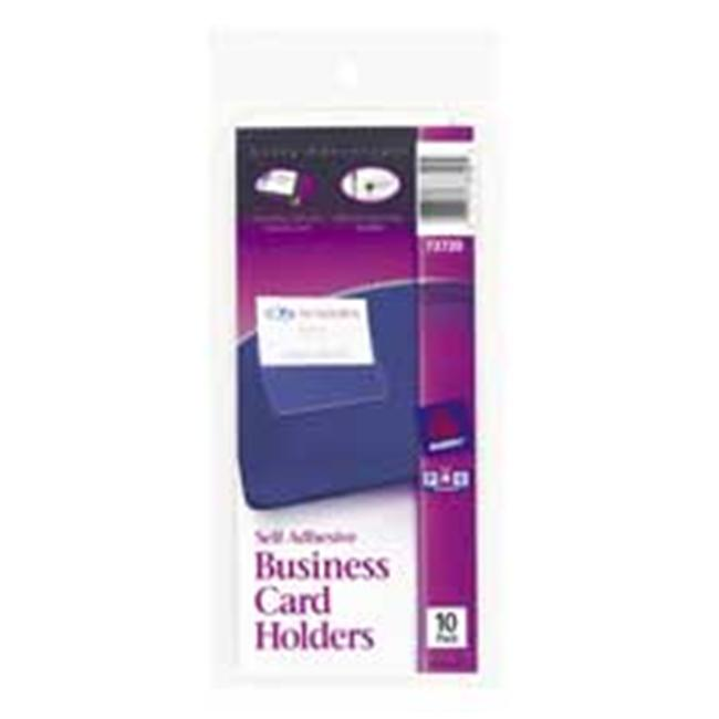 Avery Consumer Products AVE73720 Business Card Holder- Self Adhesive- Holds 2in.x3-.50in. Cards