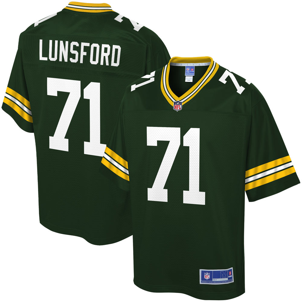 Youth Green Bay Packers Izaah Lunsford NFL Pro Line Green Home Player Jersey