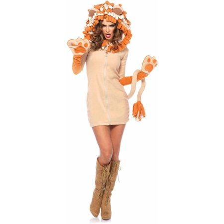Leg Avenue Women's Cozy Cute Lion Dress Costume - Adult Lion Costume