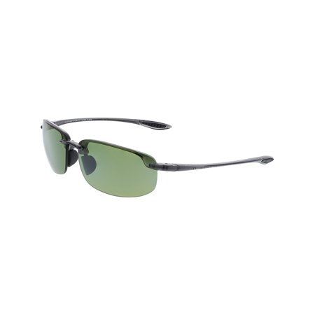 Maui Jim Men's Polarized Ho'Okipa HT807-1115 Green Rimless (Maui Jim Pilot Polarized Sunglasses)