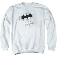 Batman DC Comics I Am Batman Ink Splatter Classic Logo Adult Crew Sweatshirt