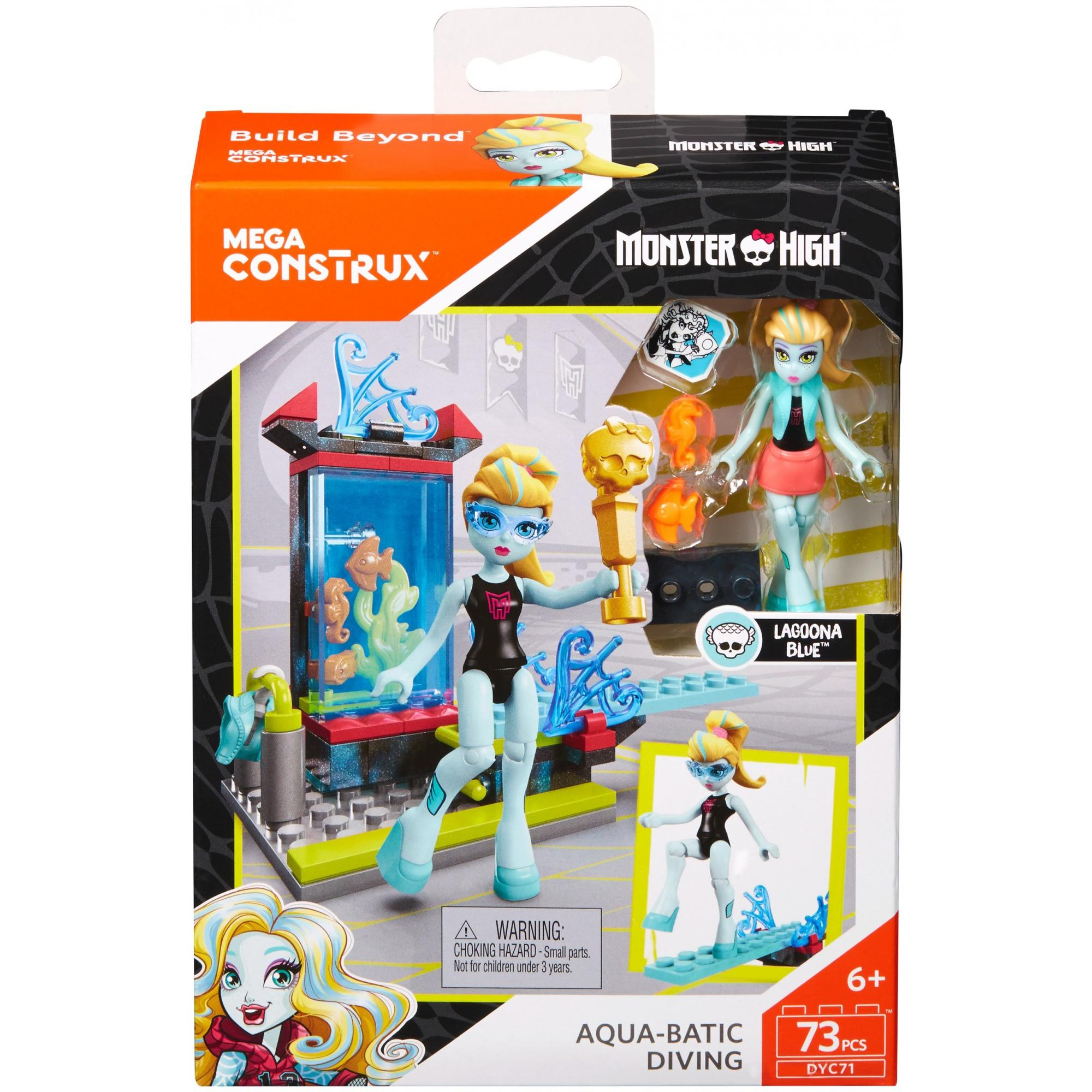 Mega Construx Monster High Creeperific Lagoona's Diving Competition Building Set