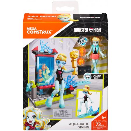 Mega Construx Monster High Creeperific Lagoona's Diving Competition Building Set for $<!---->