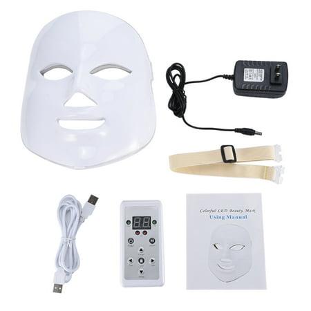 7 Colors Led Face Mask - LED Light Photon Face Mask Skin Rejuvenation, LED Facial Mask, LED Photon Mask for Anti-aging, Brightening, Improve