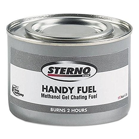 Sterno Handy Fuel Methanol Gel Chafing Fuel, Two-Hour Burn, 72 Fuel Chafing Cans, 189.9g by Winco