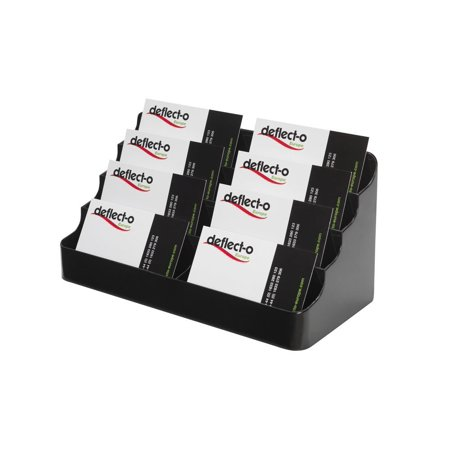 deflect-o Desktop Business Card Holder, 400 Cards Capacity, Black (70804), Display multiple cards in one convenient holder. By DeflectO Ship from US
