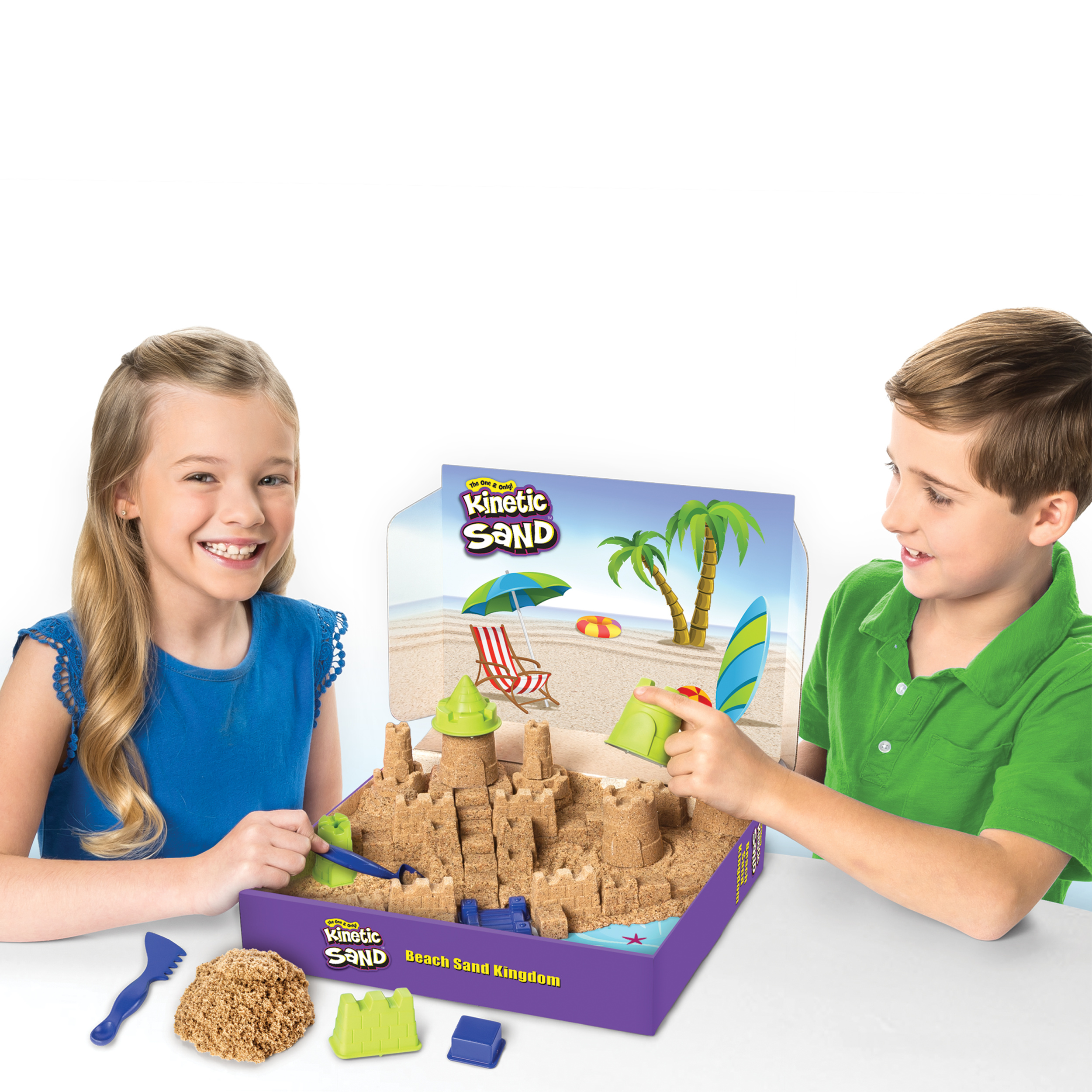 For Ages 3 An Beach Sand Kingdom Playset With 3Lbs Of Beach Sand Kinetic Sand
