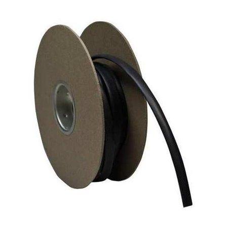 RAYCHEM CPGI-RNF-100-1/16-BK-25 Shrink Tubing, 0.063 In ID, Black, 25 ft Black Polyethylene Split Loom Tubing