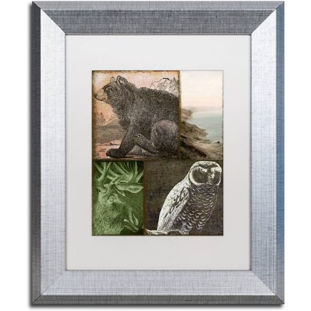 Trademark Fine Art  Cabela Iii  Canvas Art By Color Bakery White Matte  Silver Frame