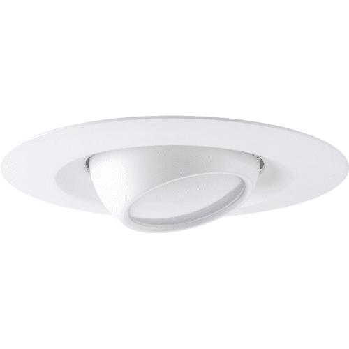 "Progress Lighting P8176-LED LED Recessed 5"" LED Adjustable Trim with White Polycarbonate Lens"