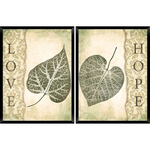 Green Leaves, Set Of 2