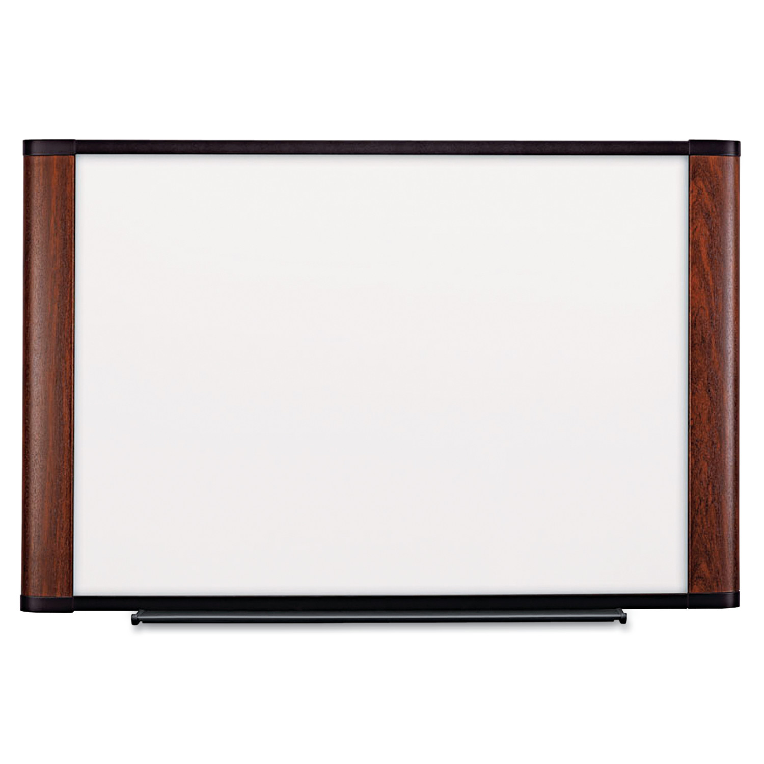 3M Melamine Dry Erase Board, 72 x 48, Mahogany Frame by 3M/COMMERCIAL TAPE DIV.