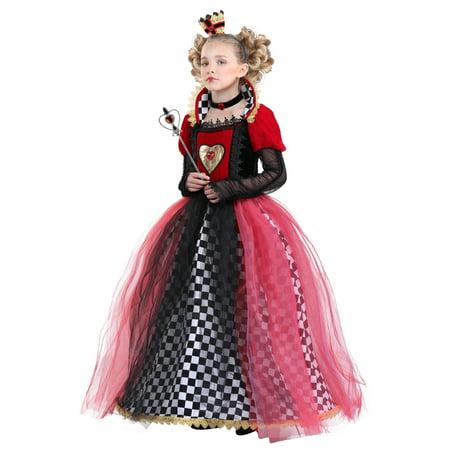 Girl's Ravishing Queen of Hearts (Children's Queen Of Hearts Costume Australia)