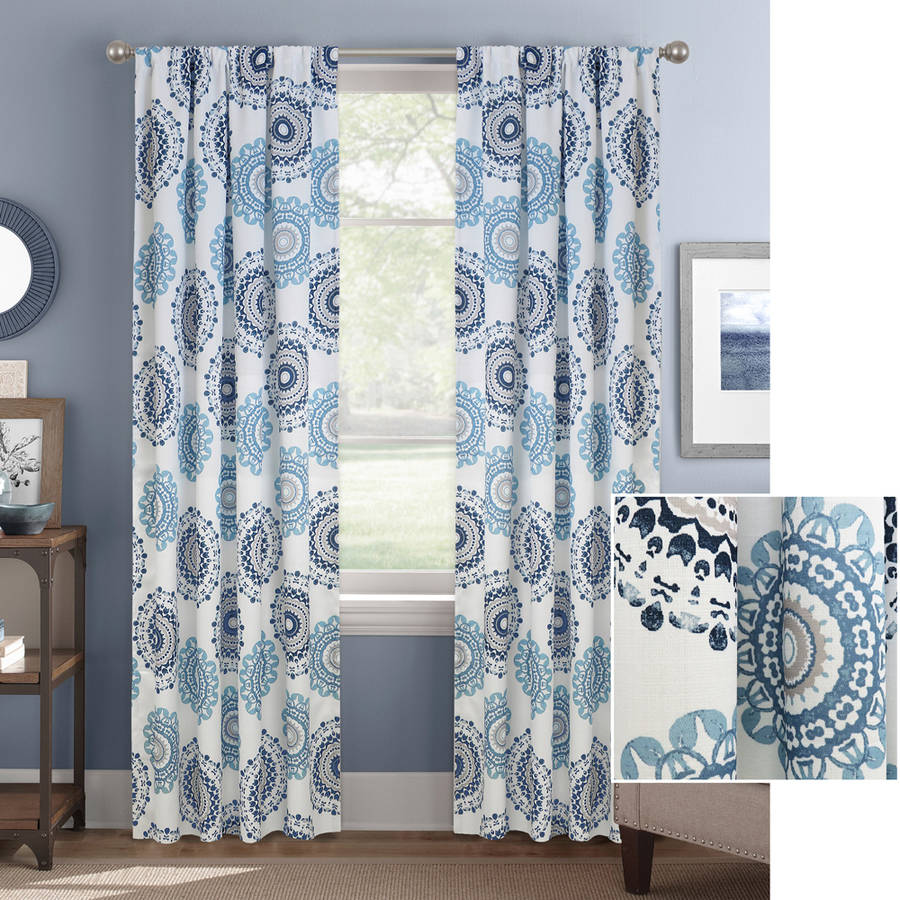 High Quality Better Homes And Gardens Kaleidescope Medallion Curtain Panel