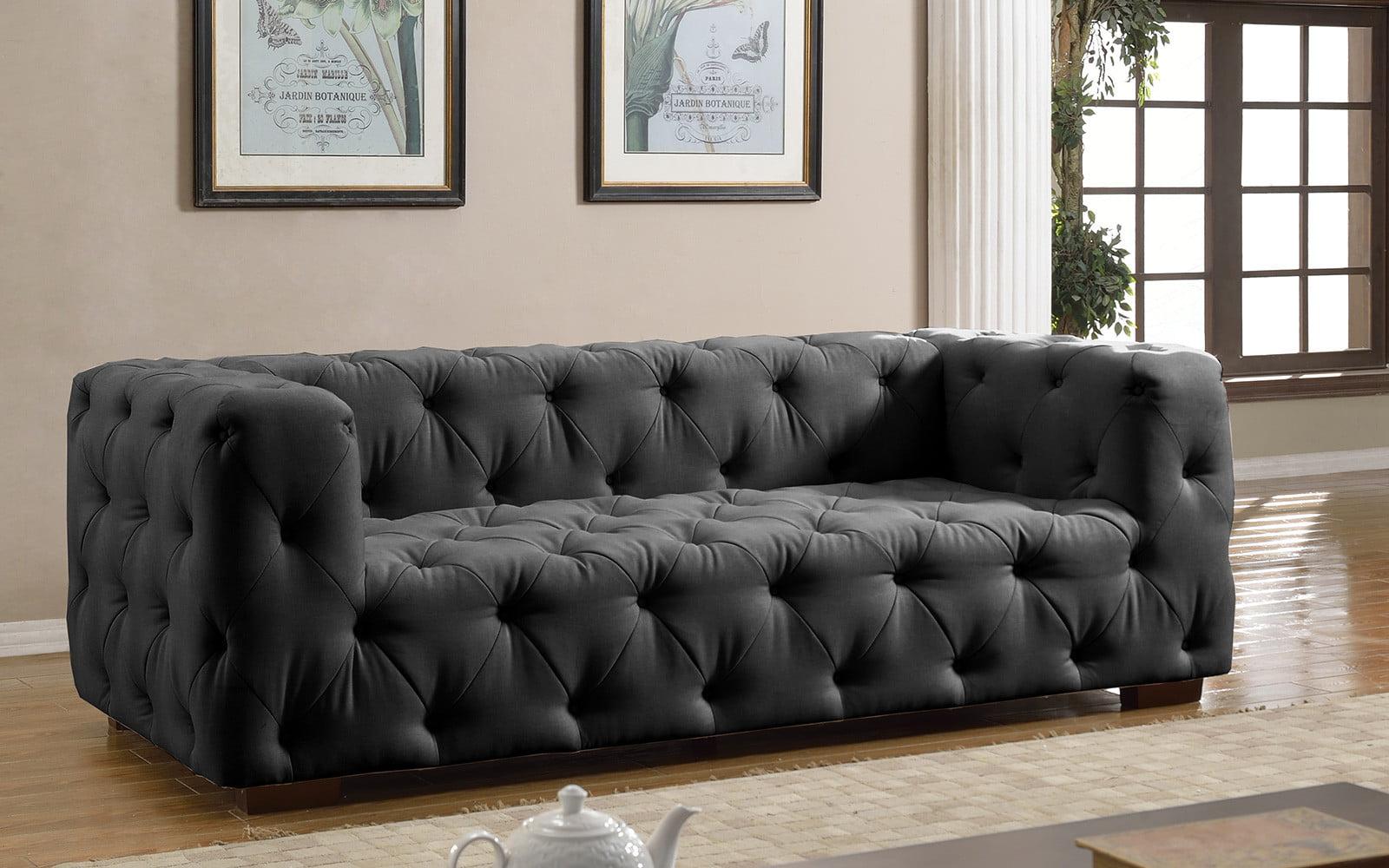 Very Luxurious Modern Large Tufted Linen Fabric Sofa - Walmart.com EF52