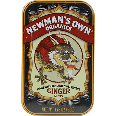 Newman's Own Organics Mints, Ginger, 1.76 Ounce (Case of 6)