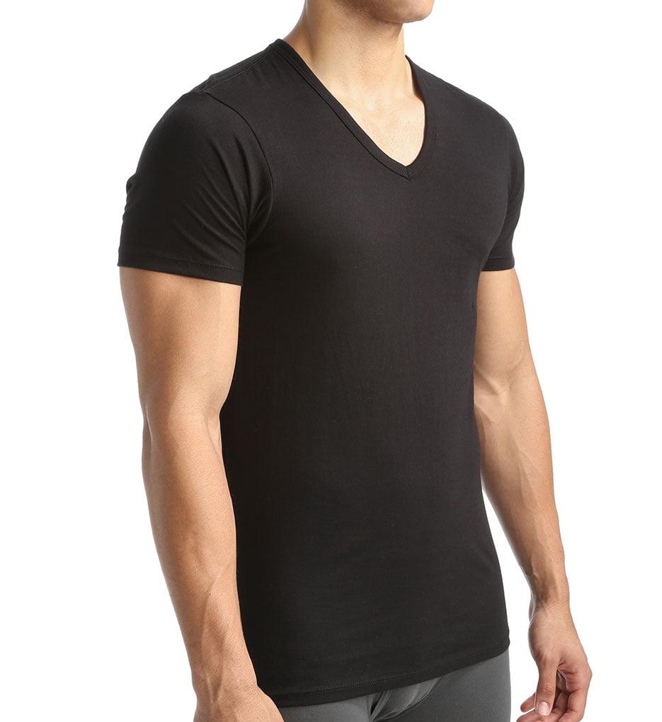 a91d3b31c9ac Calvin Klein - Calvin Klein Slim Fit Cotton T-Shirt 3-Pack - Walmart.com