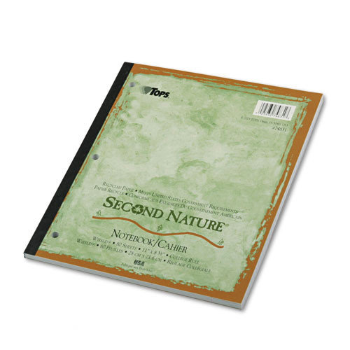 Tops Second Nature College Rule 1-Subject Notebook