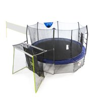 Skywalker Trampolines 16' Round Sports Arena, with Lighted Spring Pad, Blue
