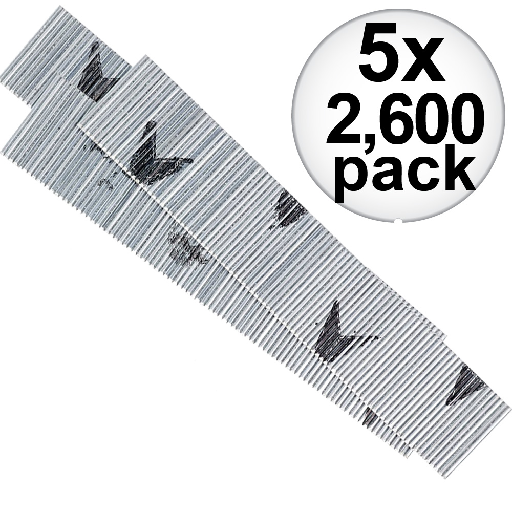 "Senco A101509 2,600pk 1-1/2"" 23 Gauge Galvanized Micro Pin Nails 5-Pack"