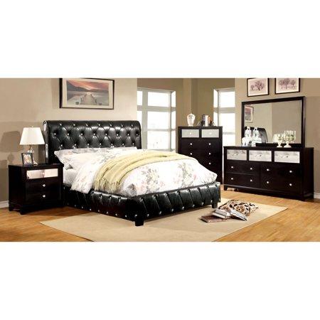 Furniture of America Dahsiel Platform Bed Set with Bluetooth ...