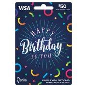 Vanilla Visa $50 Confetti Gift Card