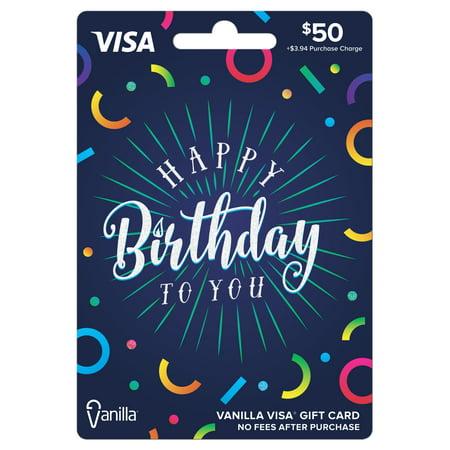 Vanilla Visa $50 Confetti Gift Card](Chase Via)