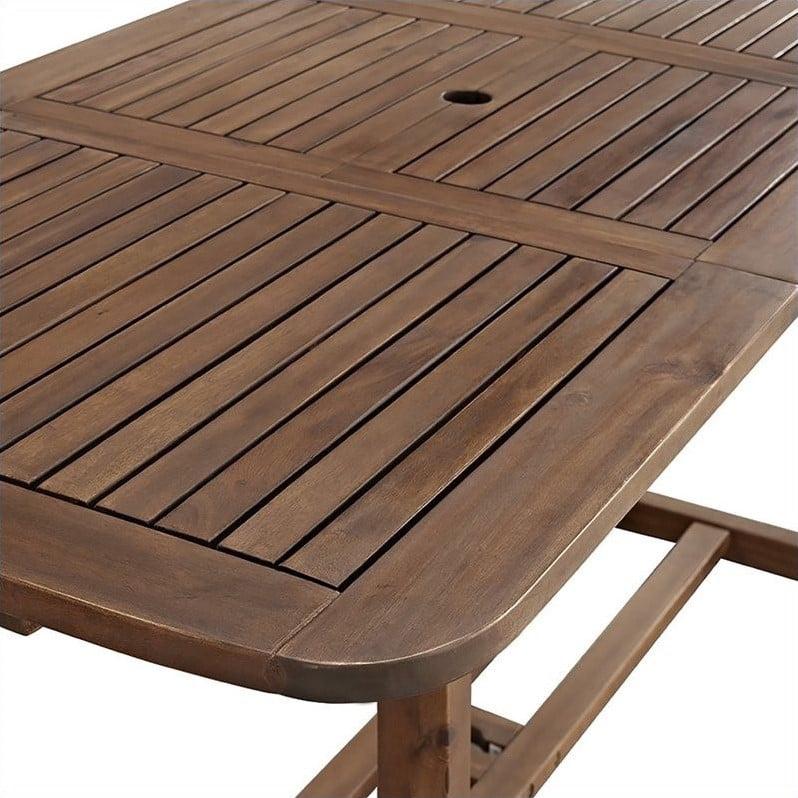 Pemberly Row 7 Piece Acacia Patio Dining Set in Dark Brown - image 2 de 6