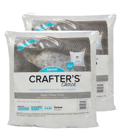 "Fairfield Crafter's Choice 16""x16"" Pillow Insert (Pack of 2)"