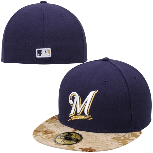 Milwaukee Brewers New Era 2015 Memorial Day On-Field 59FIFTY Fitted Hat - Navy