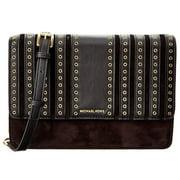 Brooklyn Grommet Large Leather Crossbody Bag - Black - 32F6ABHC3S-001