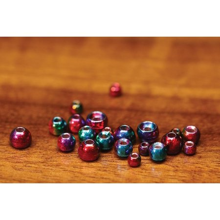3/32 2.3mm Rainbow Hued Plummeting Tungsten Beads, 20 beads per package By Hareline Dubbin Inc Ship from US