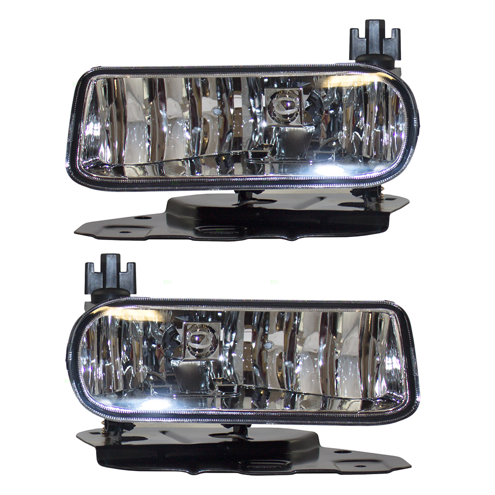 Pair Set Fog Lights Lamps Clear Lens Replacement for Cadillac Escalade / ESV & EXT Pickup Truck GM2592138 GM2593138