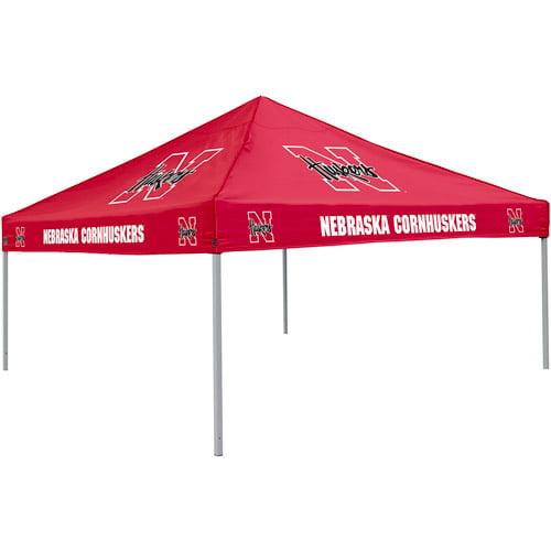Logo Chair NCAA Nebraska 9' x 9' Solid Color Tent, Sleeps 4