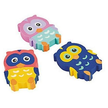 Owl Erasers 2 Dozen, Party Favors,birthday's Party Supplies,school Supplies,office Supplies, Toys](Owl 1st Birthday Party Supplies)