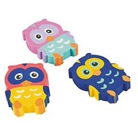 Owl Erasers 2 Dozen, Party Favors,birthday's Party Supplies,school Supplies,office Supplies, Toys