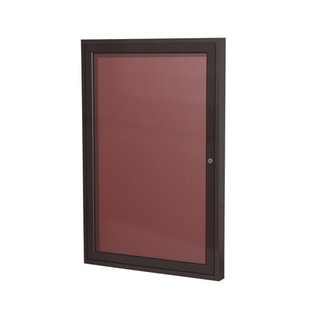 PB12418BX-BG Ghent 1 Door Enclosed Vinyl Message Center Bronze Aluminum Frame Letter Board 24-in H x 18-in W, -
