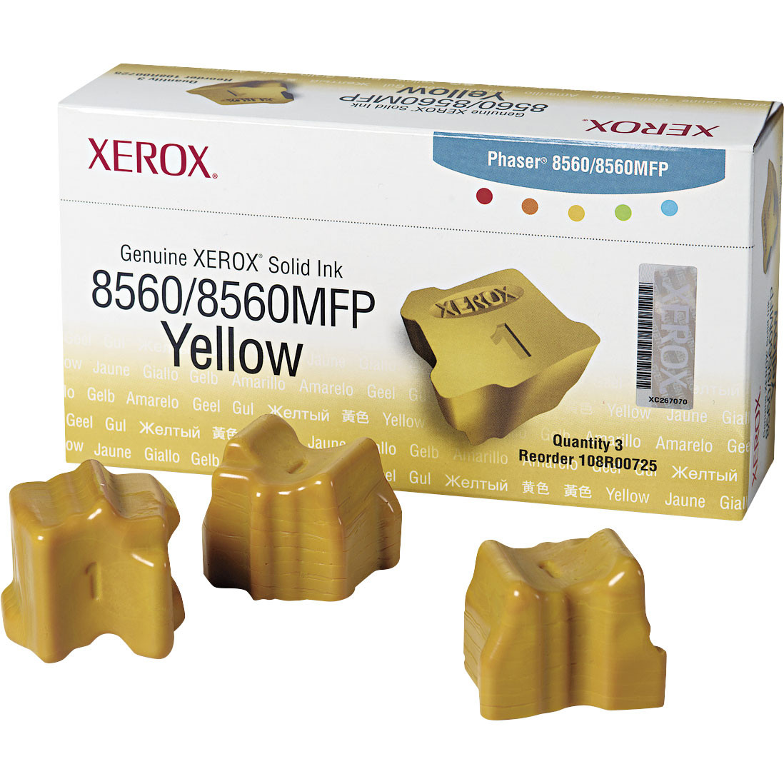 Xerox 108R00725 Solid Ink Yellow 3pk
