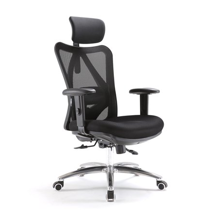 caesar hardware ergonomic adjustable swivel home office chair with arms lumbar support and. Black Bedroom Furniture Sets. Home Design Ideas