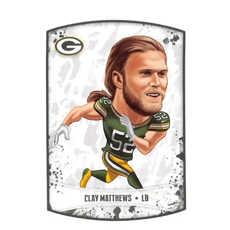2018 Panini NFL Stickers #308 Clay Matthews Green Bay Packers Football