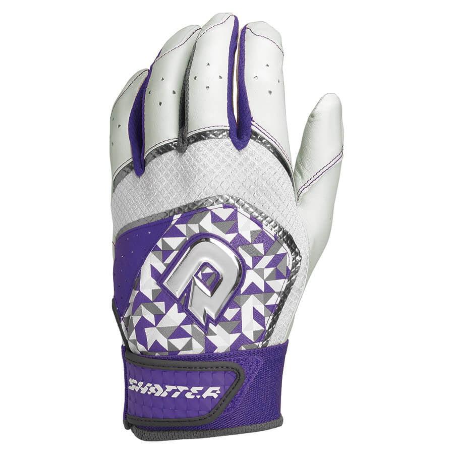 DEMARINI Adult Shatter Batting Gloves Purple Large