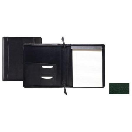 Raika RM 143 GREEN Standard Zipper Writing Pad - Green
