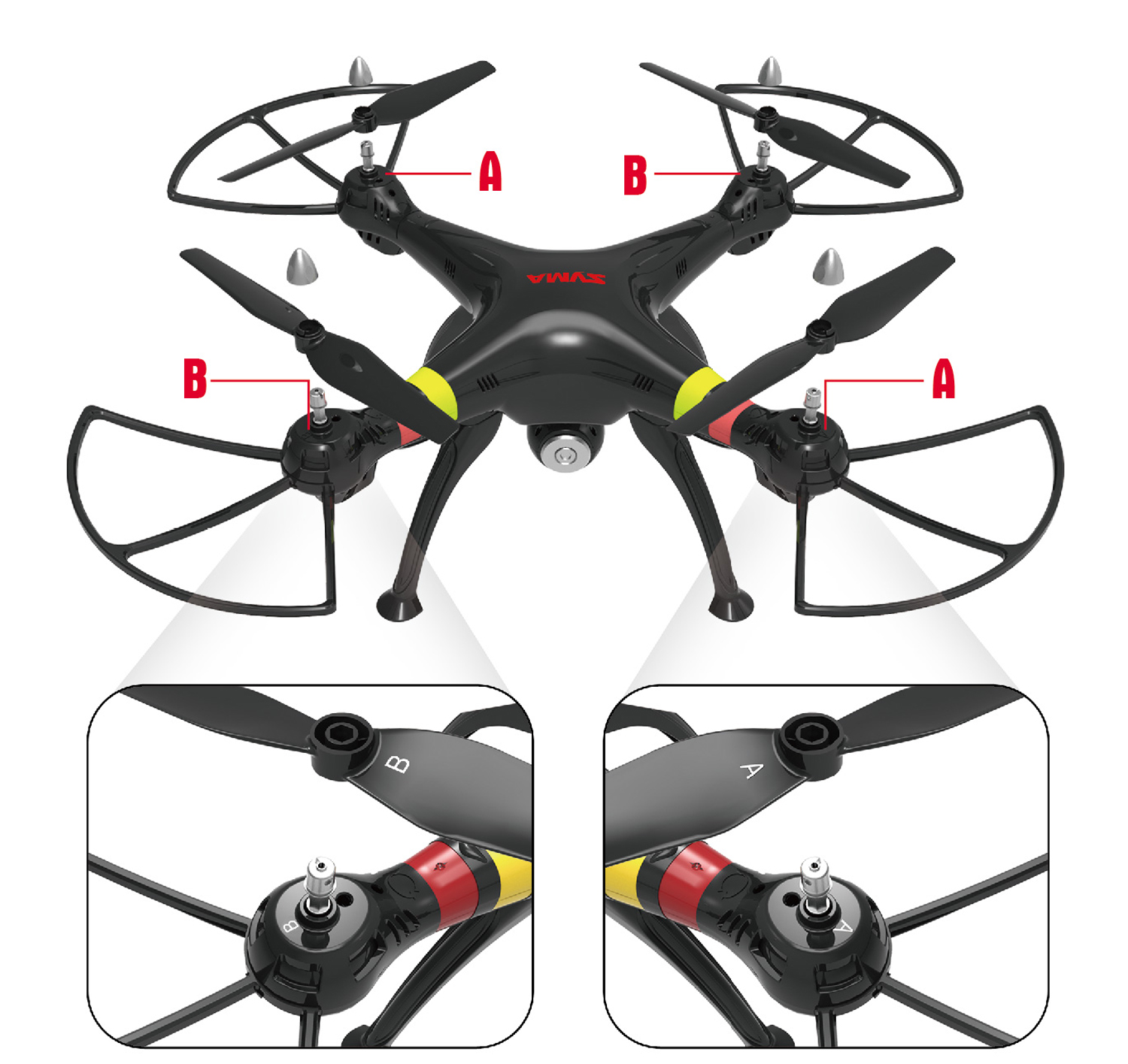 Cheerwing Black Syma X8w Fpv 24ghz 4ch Large Headless Rc Quadcopter X8c Venture With 2 Mp Full Hd Camera White Drone