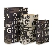 Set of 3 Text Collage Book Boxes
