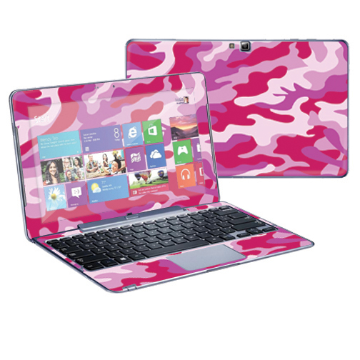 "Mightyskins Protective Skin Decal Cover for Samsung ATIV Smart PC Pro 500T Tablet & Keyboard with 11.6"" screen wrap sticker skins Pink Camo"