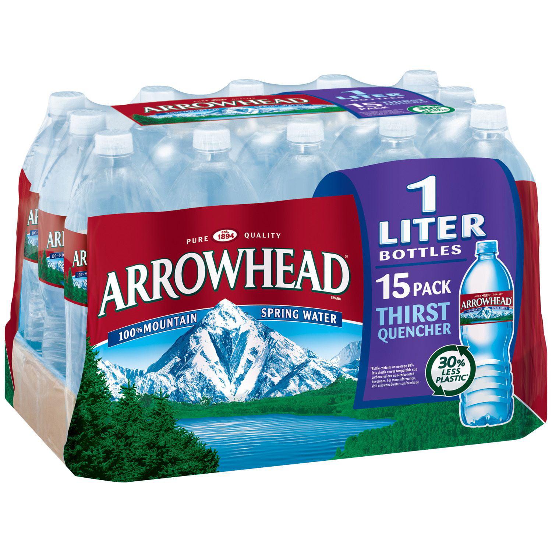 Arrowhead 100% Mountain Spring Water (1L bottles, 15 pk.)